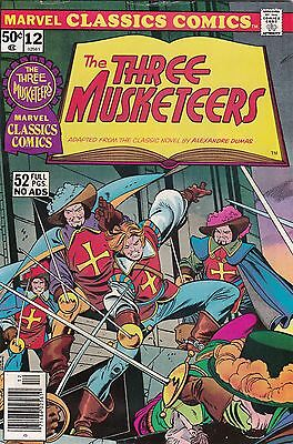 1976 Marvel Classic Comics The Three Musketeers Comic Book #12