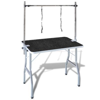 Bath Grooming Table for Dogs Cats Pets Adjustable 2 Loop Arm Iron Frame