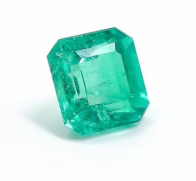 Superb Colombian GIA Certified 3.17ct Octagonal Step Cut Emerald Appraised $4000