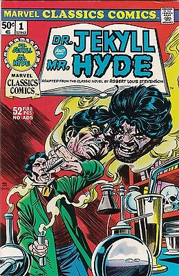 1976 Marvel Classic Comics Dr. Jekyll and Mr. Hyde Comic Book #1