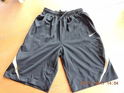 Nike youth 100%polyester black w/white & gold activity/sports shorts size M10-12