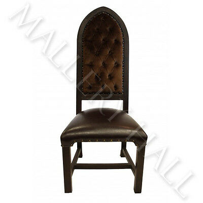 Gothic Crocodile Carved Back Fleur-de-lis Tall Dining Chairs Qty 4 6 or 8---