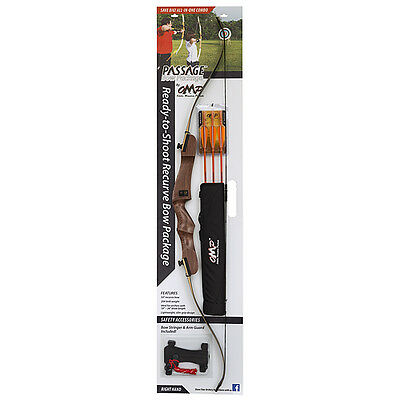"""October Mountain Passage Recurve Bow Package 54"""" 20 Lb Right Hand"""