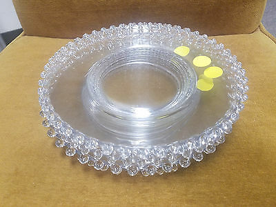 "Imperial Candlewick 8"" salad plates - 6 Plates PPD"