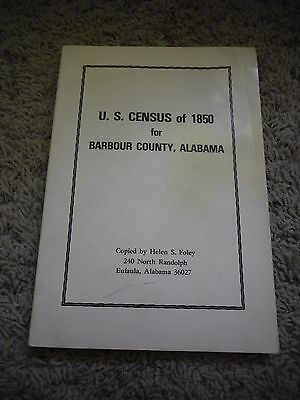 U.S. Census of 1850 for Barbour County, Alabama