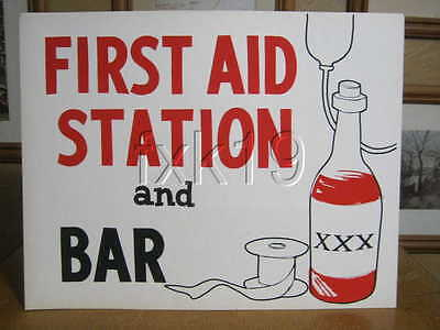 Harolds Club Casino Poster ~ FIRST AID STATION AND BAR