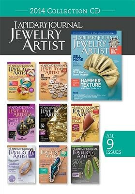 NEW! Lapidary Journal Jewelry Artist Magazine 2014 Collection [CD] [9 Issues]