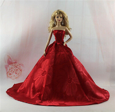 Fashion Handmade Princess Dress Wedding Clothes Gown for Barbie Doll L84