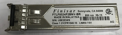 Finisar 1000BASE-SX 850nm  300M 4Gbs GBIC Transceiver FTLF8524P2BNV-BR