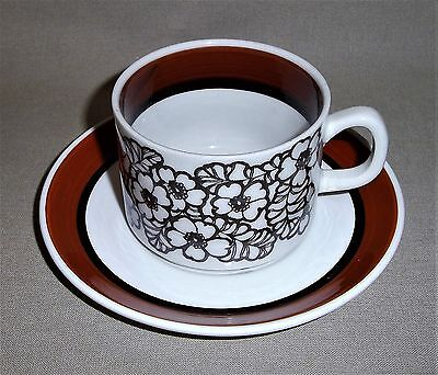 "Coffee Cup With Saucer - ""agneta"" - Gefle / Upsala Ekeby ( 1 )"