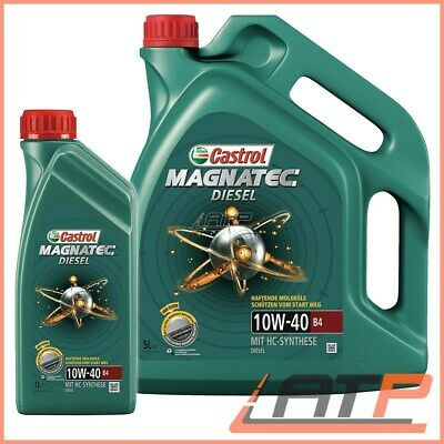 6 Litre Castrol Magnatec 10W-40 B4 Engine-Oil Vw 505 01