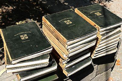 set of 28 encyclopedia brittanica leatherbound black gold antiques 1911 rare old