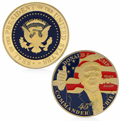 Donald Trump Commemorative Challenge Coin 45th President The United States Gift