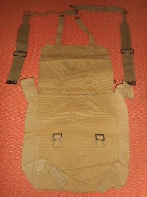 Canadian Army : 1943  Wwii - Big Backpack Haversack & 2 L  Straps ,wwii
