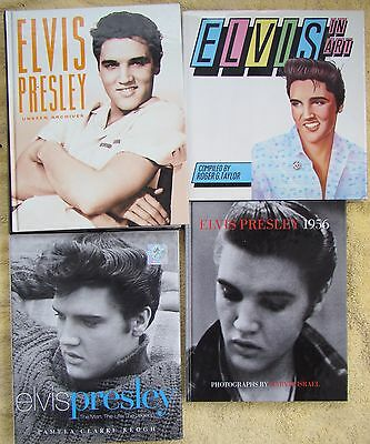 ♫ ELVIS PRESLEY  4 Elvis books - some rare - OOP - in great condition - lot 12 ♫