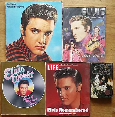 ♫ ELVIS PRESLEY  5 Elvis books - some rare - OOP - in good condition - lot 32 ♫