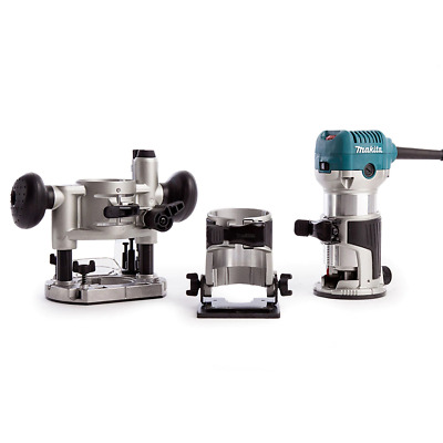 Makita RT0700CX2 Router / Trimmer with Trimmer, Tilt and Plunge Bases 240V