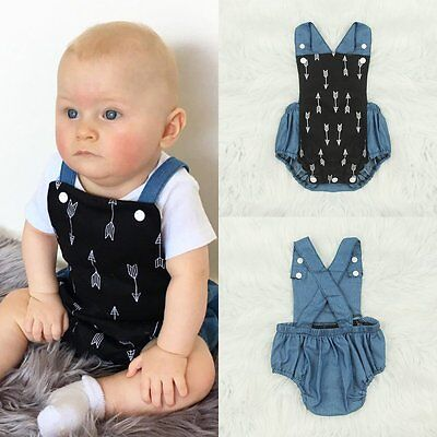Toddler Baby Boys Girls Romper Bodysuit Jumpsuit Playsuit Summer Outfits Clothes