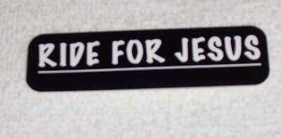 Ride For Jesus Christian God Motorcycle Helmet Sticker Biker Helmet Decal