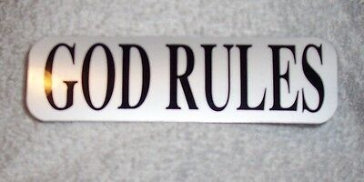 God Rules Christian Jesus Motorcycle Helmet Sticker Biker Helmet Decal