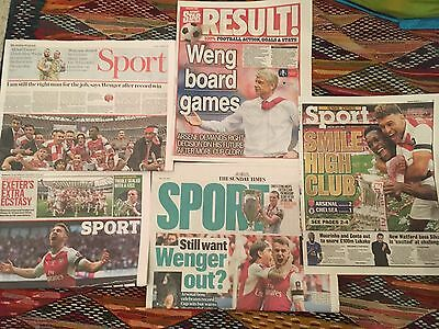 FA CUP FINAL 2017 ARSENAL v CHELSEA UK Newspaper Clippings Pack Arsene Wenger
