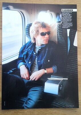 JON BON JOVI 'gets the window seat' magazine PHOTO/Poster/clipping 11x8 inches