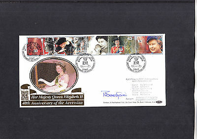 1992 Happy and Glorious Benham FDC signed