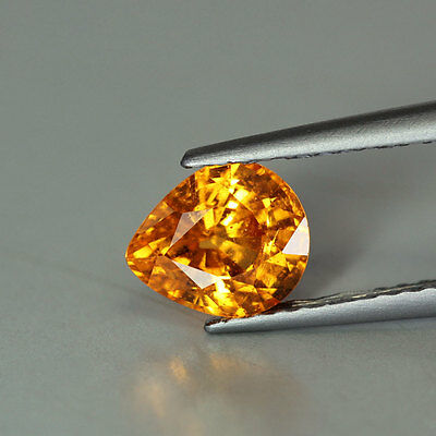 "1.11cts""Nigeria"" Fanta Orange ""Pear Cut"" Natural"" Spessartite Garnet "" PR350"