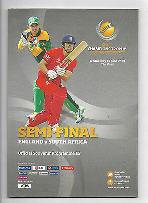 2013 ICC Champions Trophy Semi-Final - ENGLAND v SOUTH AFRICA official programme