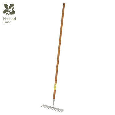 Bentley National Trust Gardening Tools Stainless Steel Soil Rake Long Handle