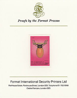 Zambia 4351 - 1981 MUSICAL INSTRUMENTS 28n on FORMAT INTERNATIONAL PROOF CARD
