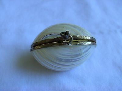 Vintage Shell Purse  Box Jewelry Trinket Natural Shell 3.5 x 5 cm