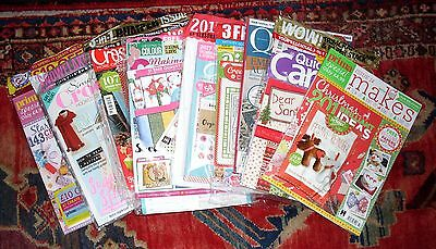 Bnip 9 Different Craft Magazines - With Free Gifts