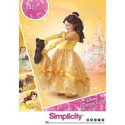 "SIMPLICITY SEWING PATTERN Disney Beauty & the Beast Costume Child 18"" DOLL 8407"
