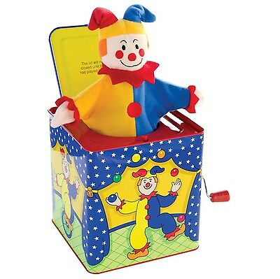 Schylling Jack in the Box Clown Jester Tin Toy Musical Kids