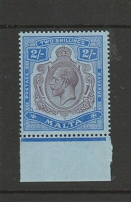 Malta 1914/21 GV 2/- Dull Purple & Blue Fresh LMM SG 86g