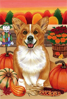 Large Indoor/Outdoor Autumn Flag - Corgi (TP) 67044
