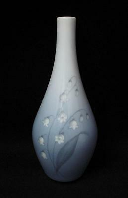 Vintage Bing & Grondahl Copenhagen Denmark Porcelain Lily Of The Valley Vase 1