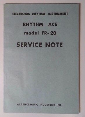 Rhythm Ace Service Note Manual FR-20 Ace Electronic Industries(Roland)  Original