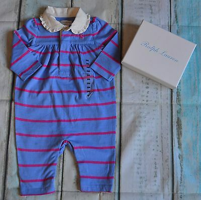 New With Tags Ralph Lauren Baby Girl Designer Clothes Romper Suit 3 Months