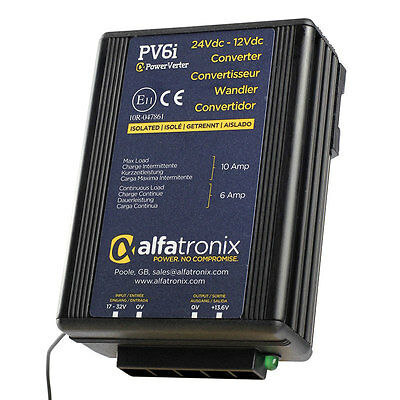Alfatronix PV6i 24VDC to 12VDC Converter - Isolated Input to Output