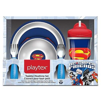 Playtex DC Super Friends Mealtime Set - Superman