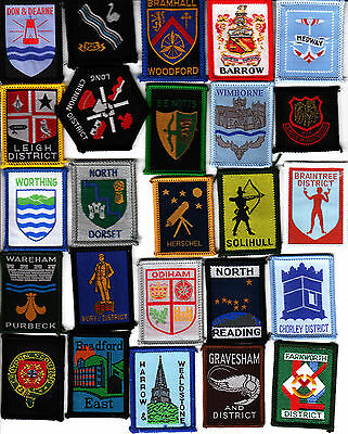 Boy Scout COUNTY and DISTRICT Badges x 25 inc ++Ext DON&DEARNE