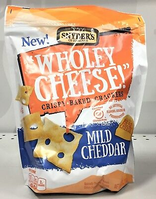 Snyder's Of Hanover Wholey Cheese Mild Cheddar Crispy Baked Crackers 5oz Snyders