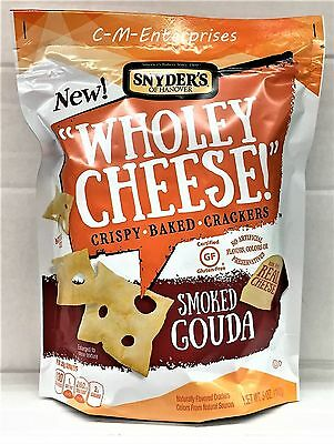 Snyder's Of Hanover Wholey Cheese Smoked Gouda Crispy Baked Crackers 5oz Snyders