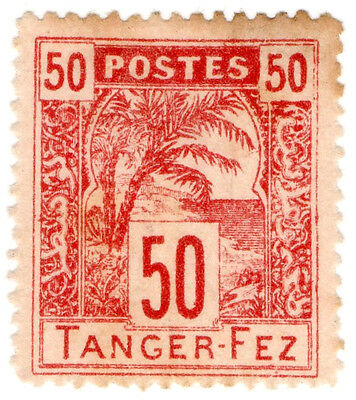 (I.B-CK) French Morocco Local Post : Tanger-Fez 50c