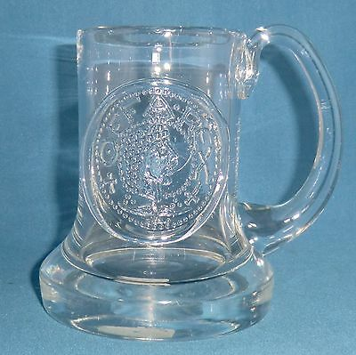 Vintage Dartington Glass Tankard FT1 Offa Rex 1971