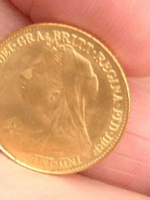 Half  Sovereign Old Head 1896 Coin, Bygones And Jewellery