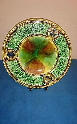 George Jones Majolica Style Celtic Design Display Plate