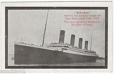 White Star Line Titanic Leaving Southampton On Maiden Voyage 1912 Rare
